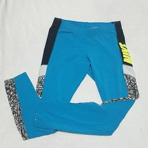 Nike Blue Cotton Leggings